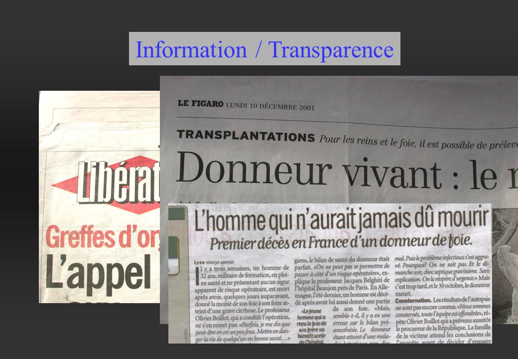 Information / Transparence