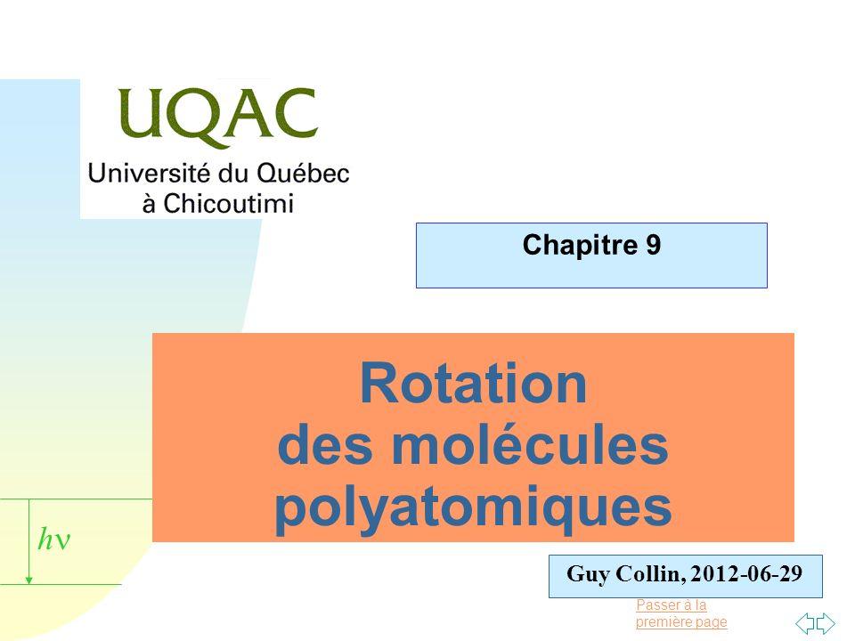 Rotation des molécules polyatomiques