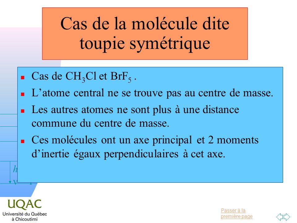 Cas de la molécule dite toupie symétrique