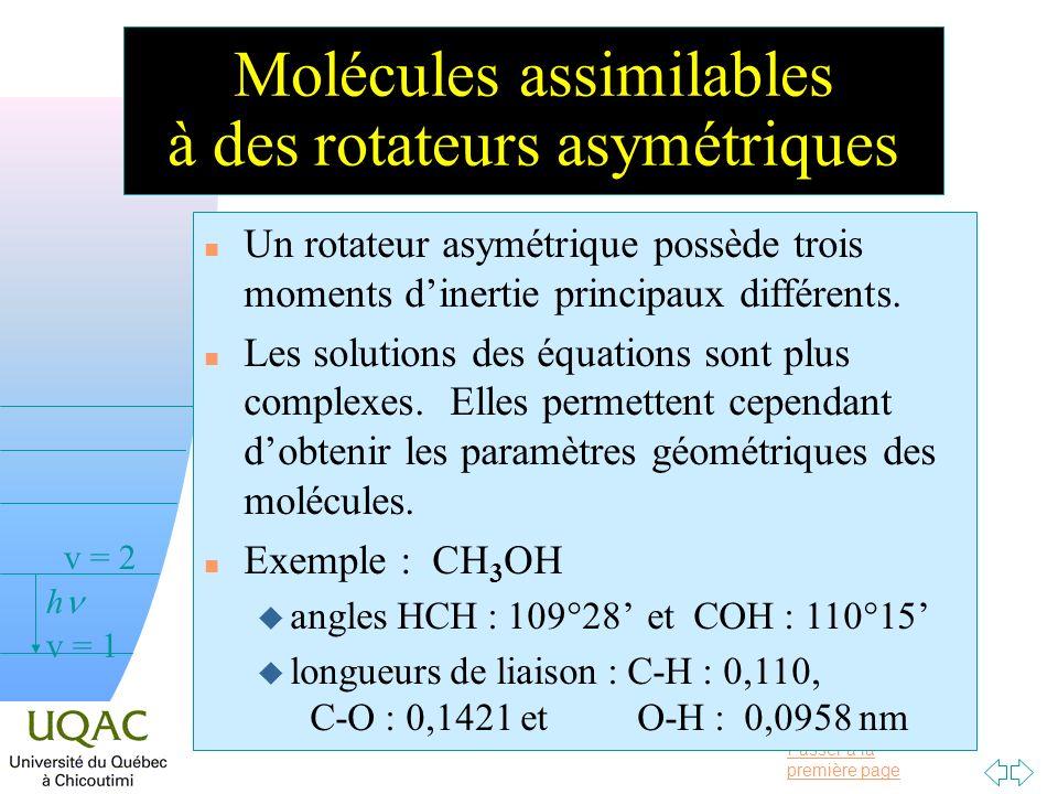 Molécules assimilables à des rotateurs asymétriques