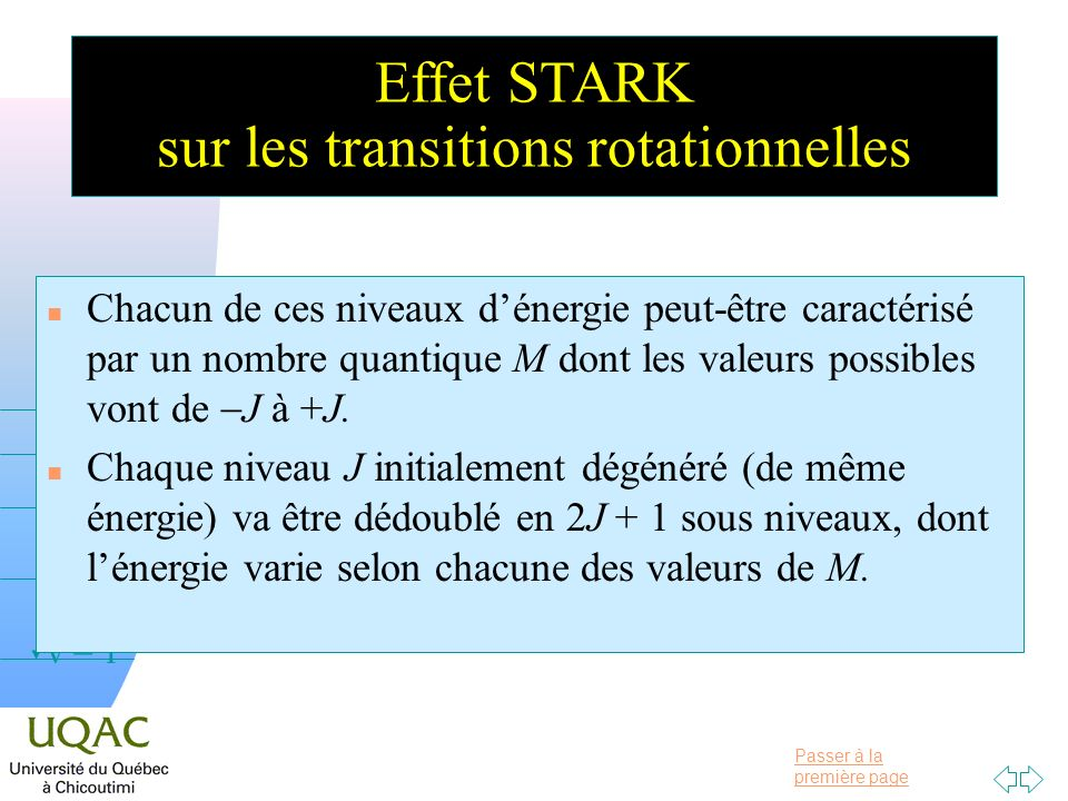 sur les transitions rotationnelles