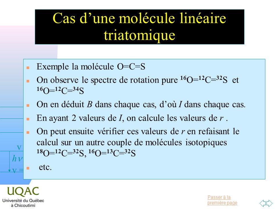 Cas d'une molécule linéaire triatomique