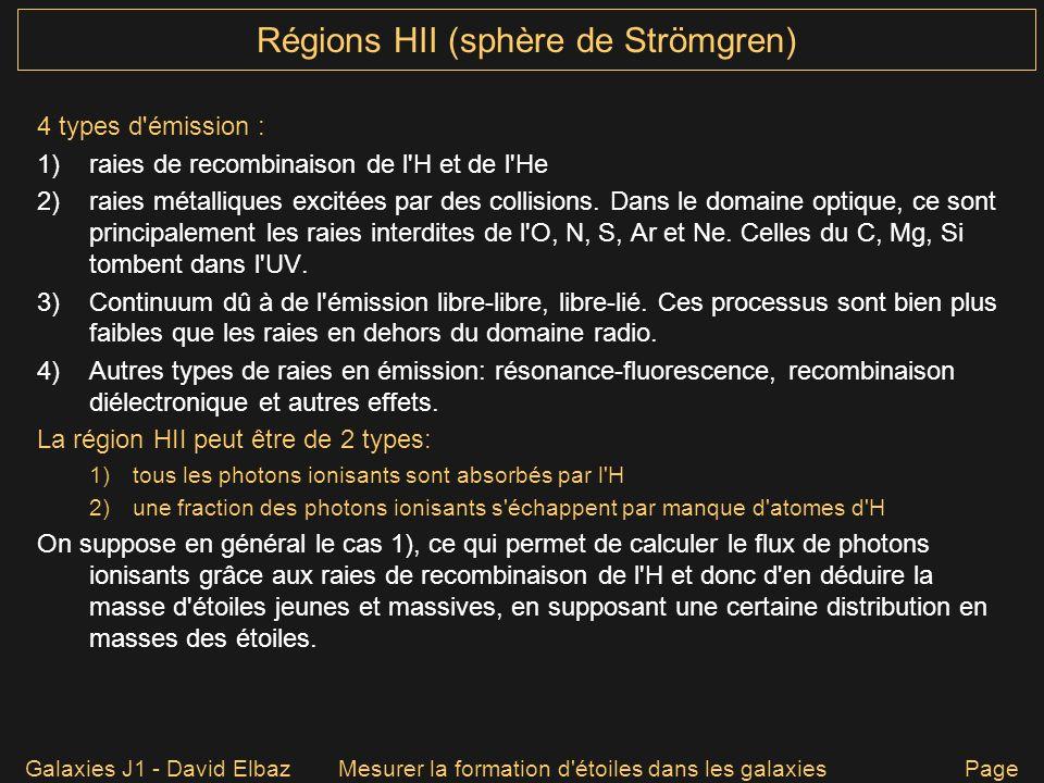 Régions HII (sphère de Strömgren)