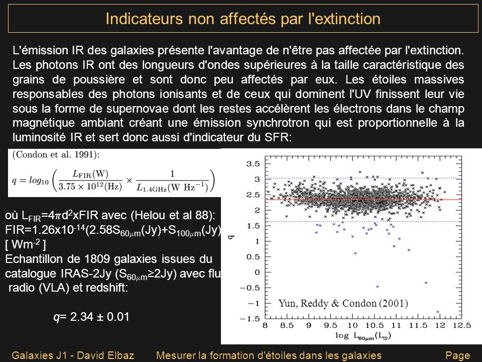 Indicateurs non affectés par l extinction