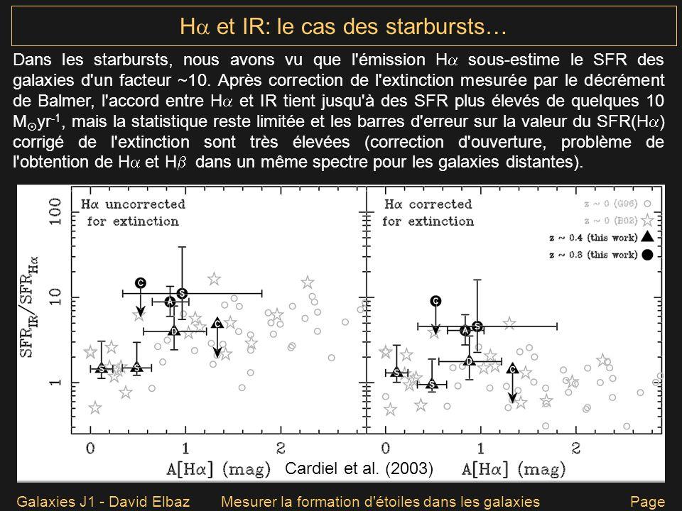 H et IR: le cas des starbursts…