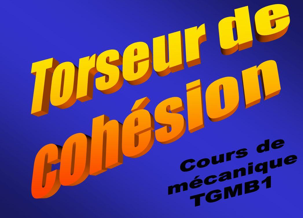 Torseur de cohésion Cours de mécanique TGMB1