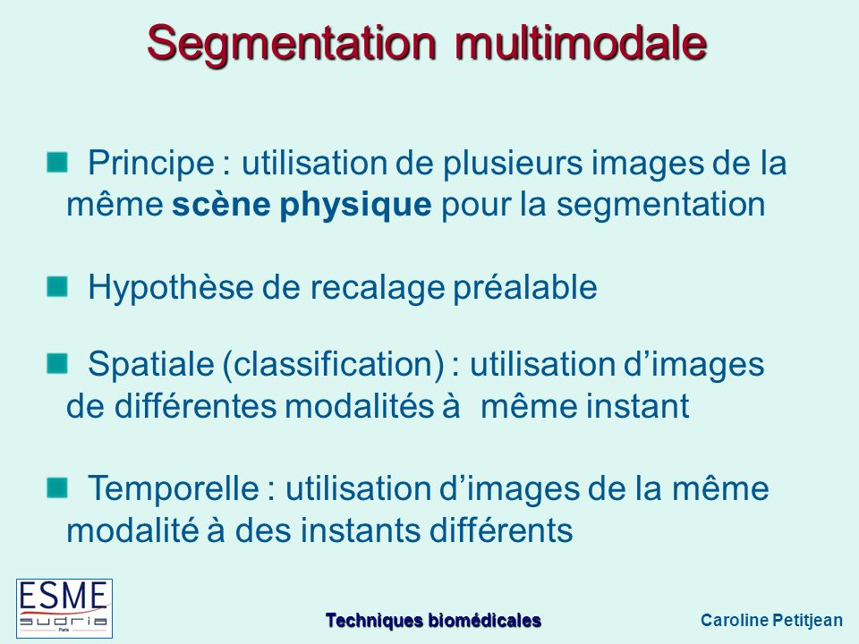 Segmentation multimodale