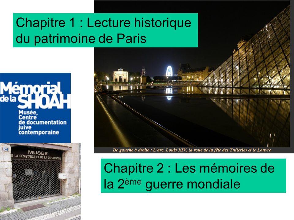 Chapitre 1 : Lecture historique du patrimoine de Paris