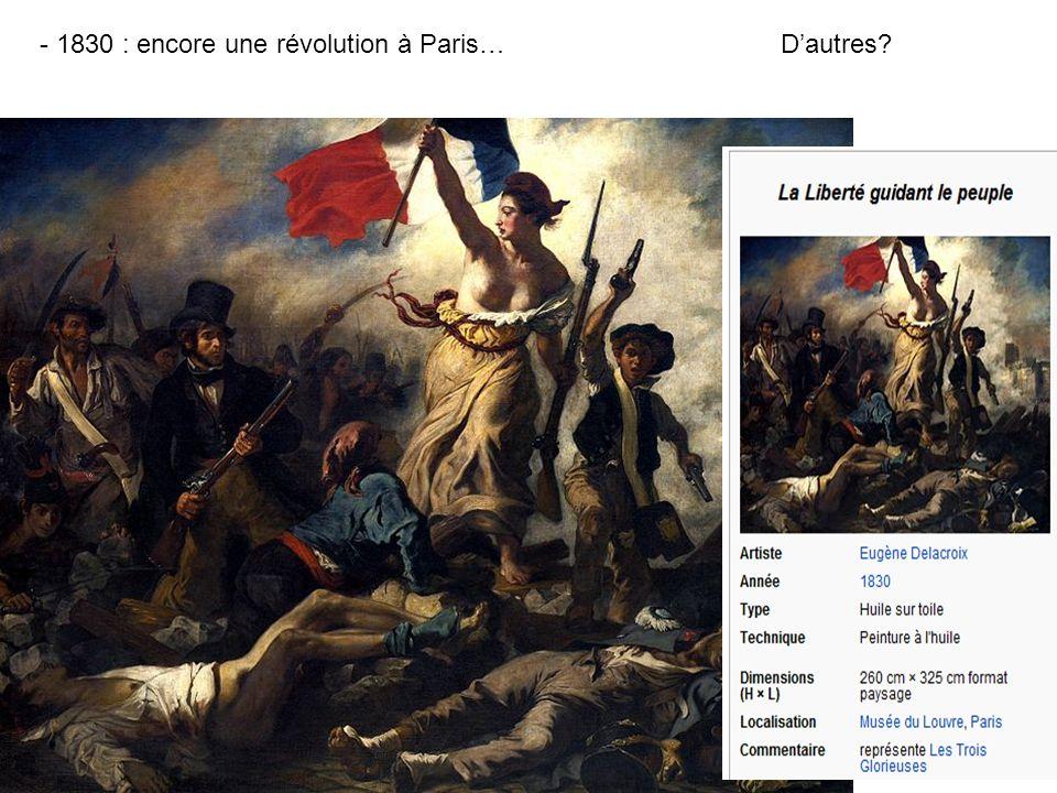 - 1830 : encore une révolution à Paris…