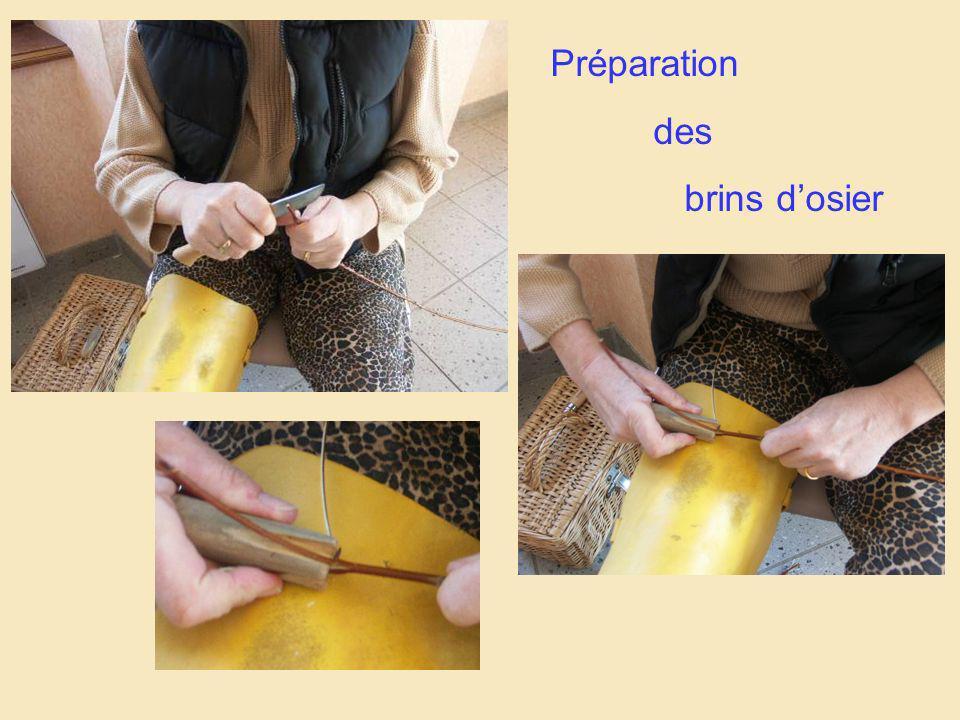 Préparation des brins d'osier