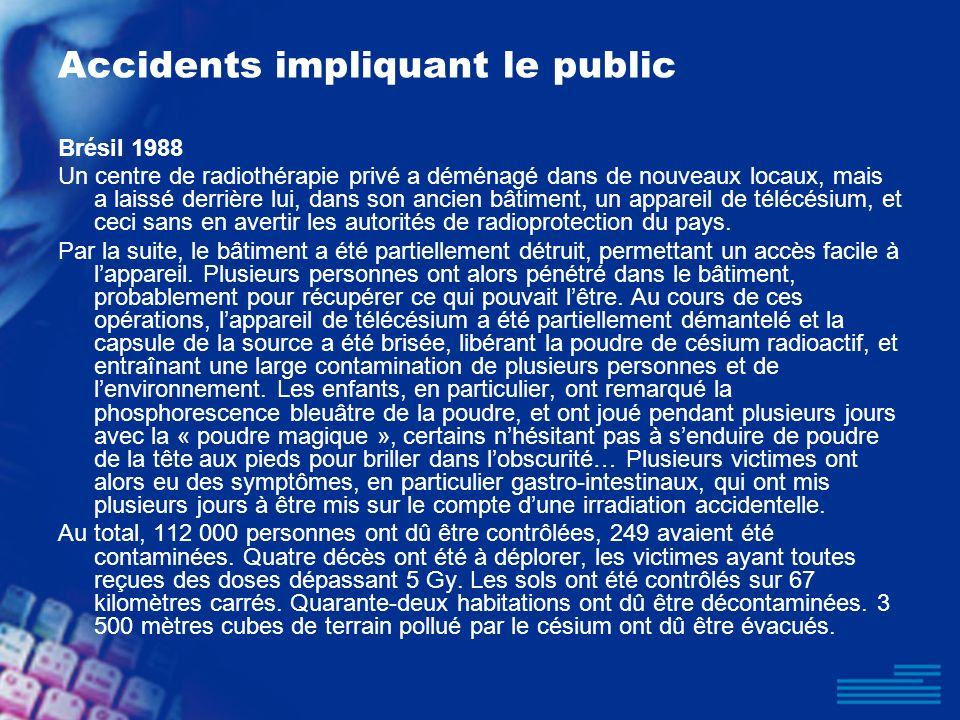Accidents impliquant le public