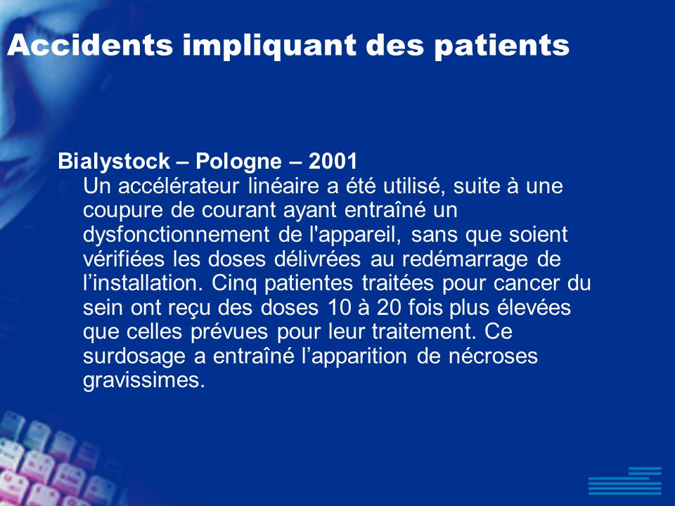 Accidents impliquant des patients