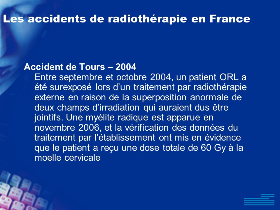 Les accidents de radiothérapie en France