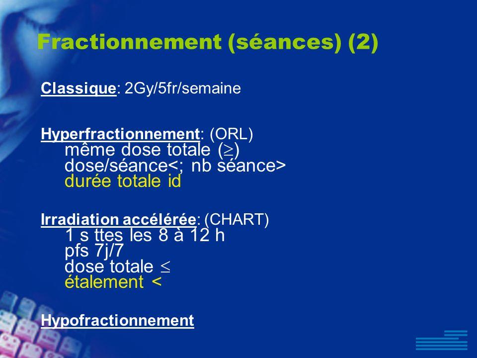 Fractionnement (séances) (2)