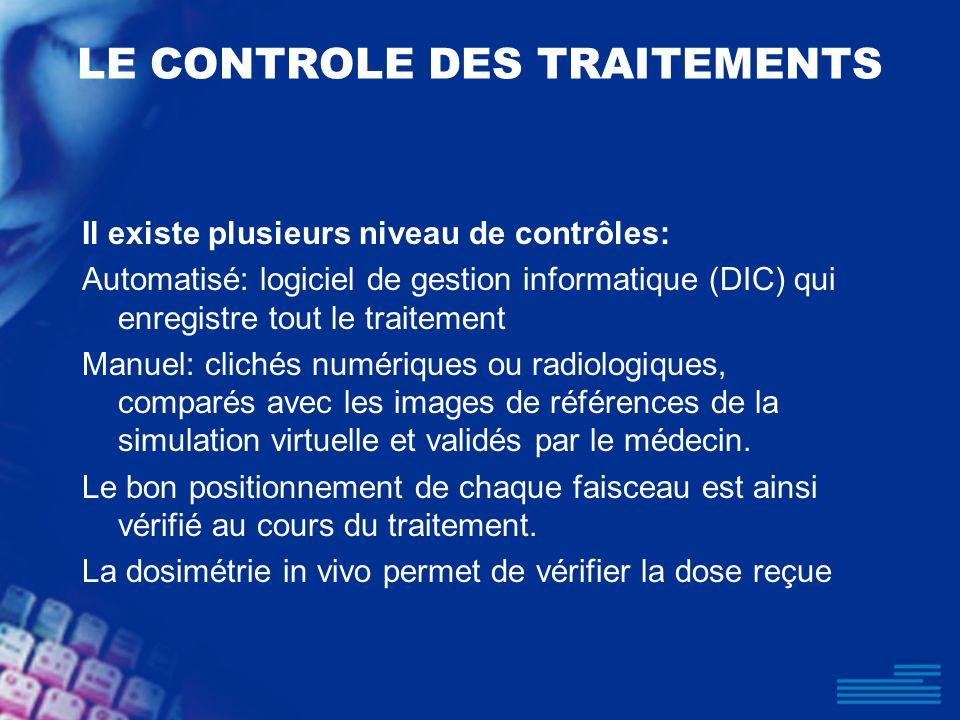 LE CONTROLE DES TRAITEMENTS