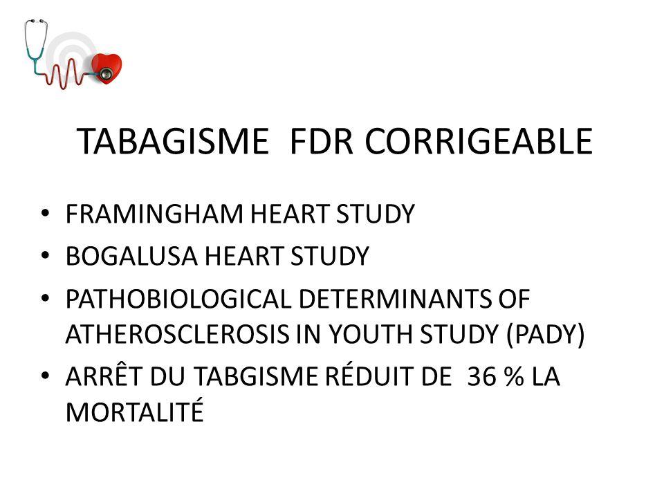 TABAGISME FDR CORRIGEABLE
