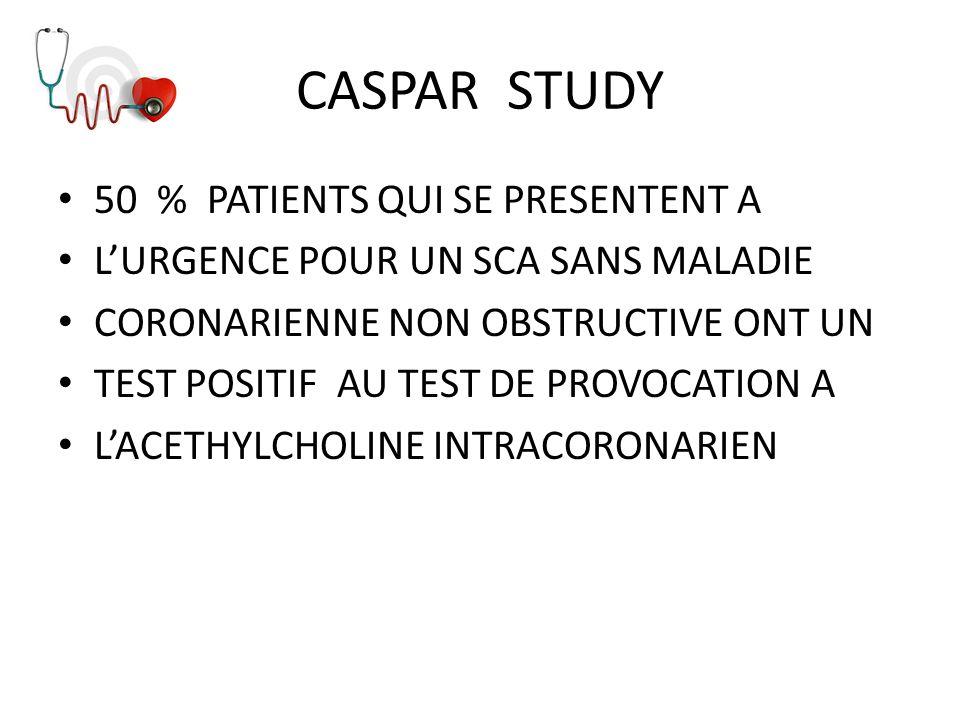 CASPAR STUDY 50 % PATIENTS QUI SE PRESENTENT A