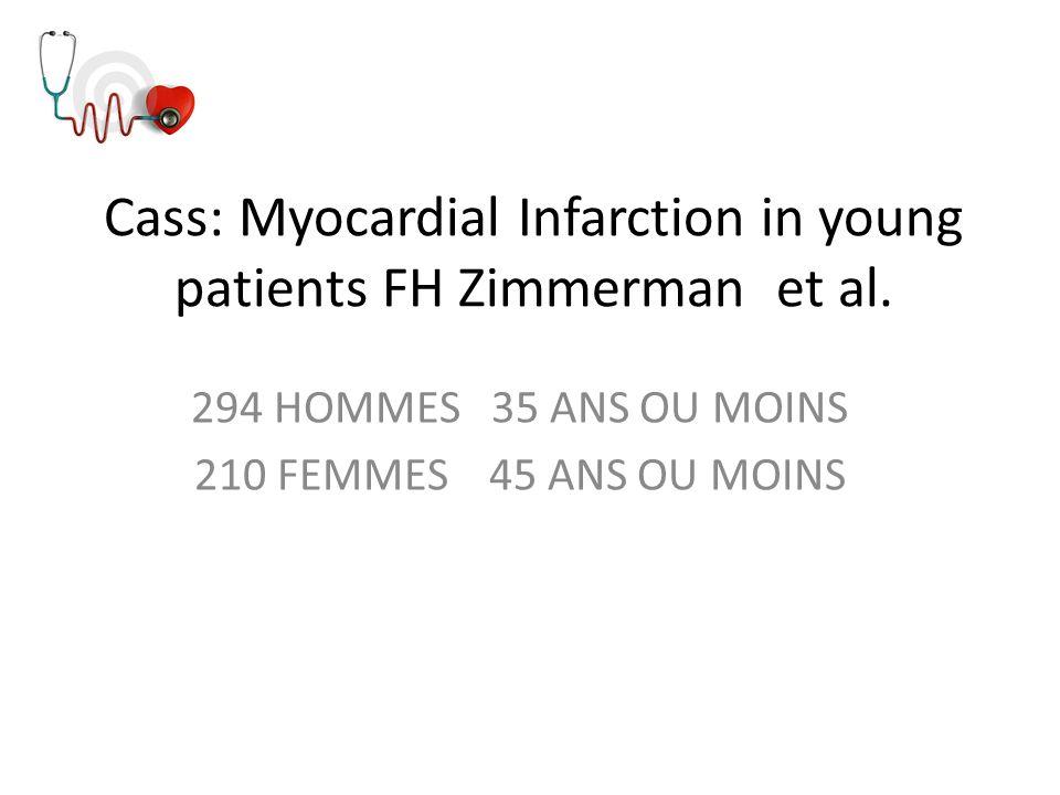Cass: Myocardial Infarction in young patients FH Zimmerman et al.