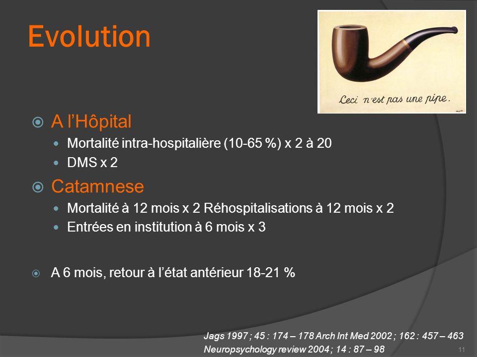 Evolution A l'Hôpital Catamnese