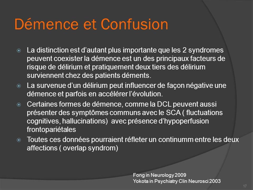 Démence et Confusion