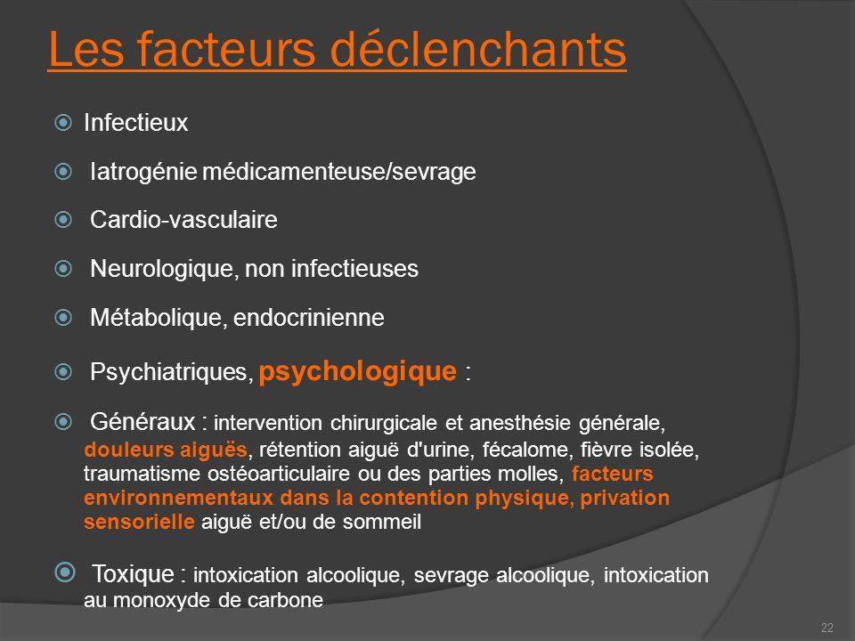 Les facteurs déclenchants