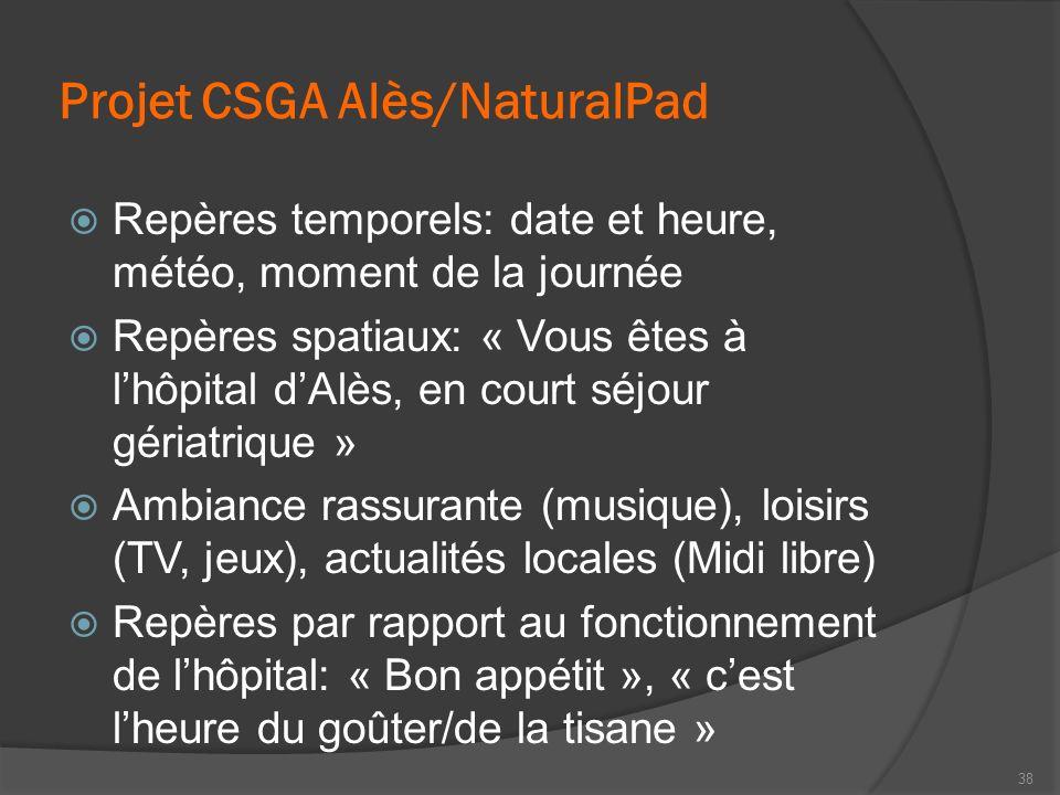 Projet CSGA Alès/NaturalPad
