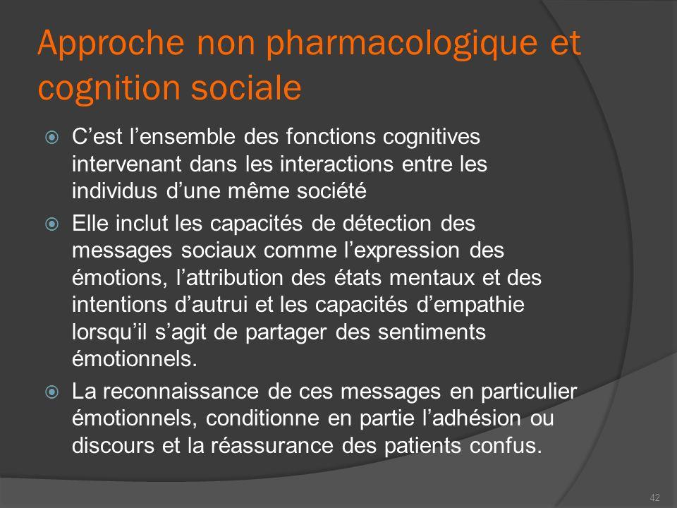 Approche non pharmacologique et cognition sociale