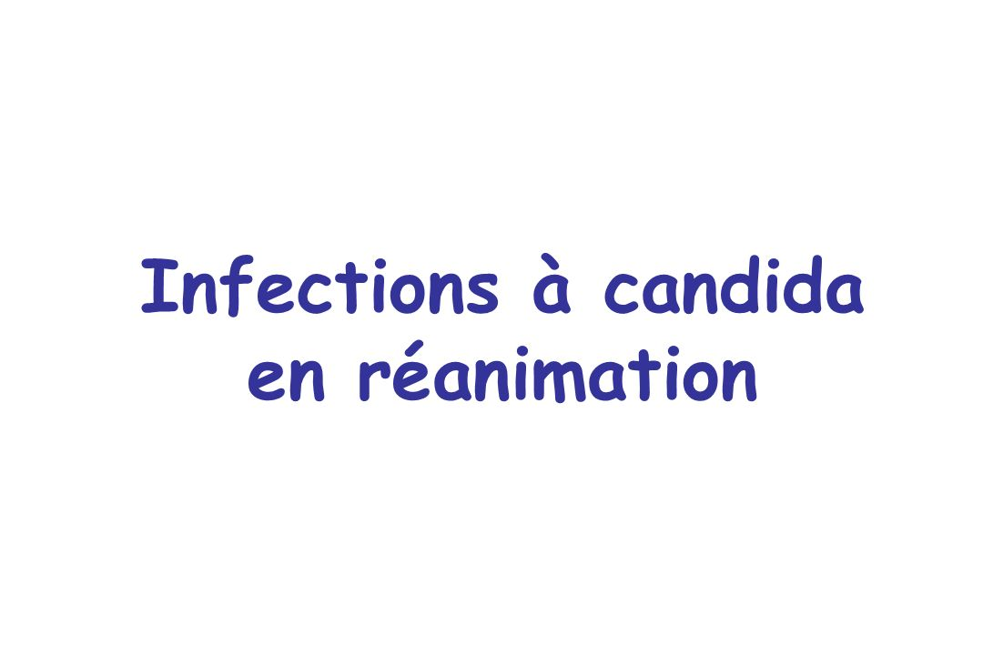 Infections à candida en réanimation