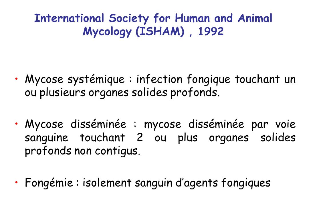 International Society for Human and Animal Mycology (ISHAM) , 1992