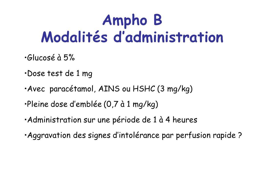 Ampho B Modalités d'administration