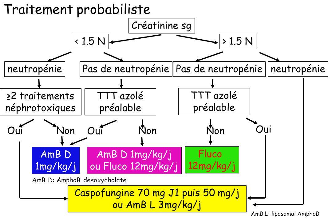 Caspofungine 70 mg J1 puis 50 mg/j