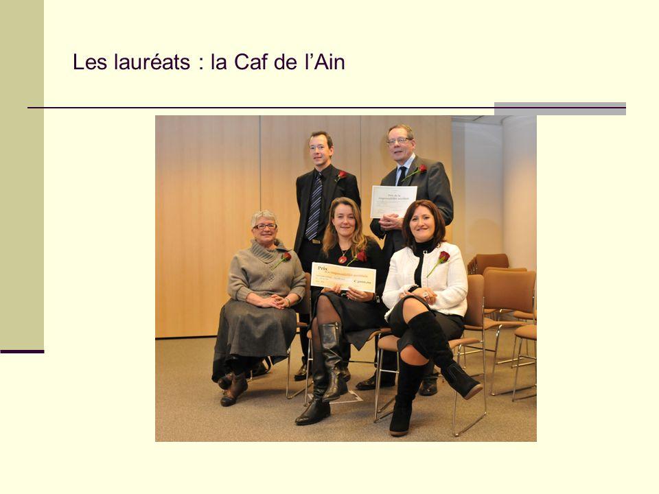 Les lauréats : la Caf de l'Ain