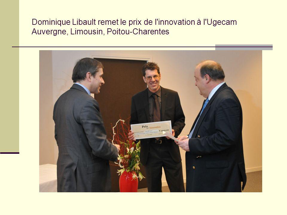 Dominique Libault remet le prix de l innovation à l Ugecam Auvergne, Limousin, Poitou-Charentes