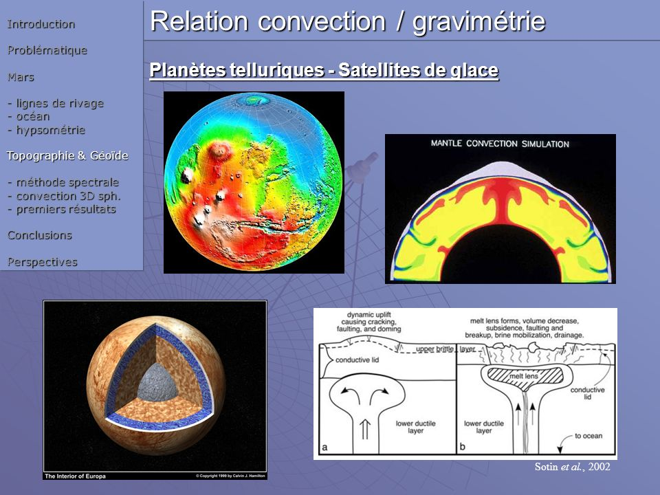 Relation convection / gravimétrie