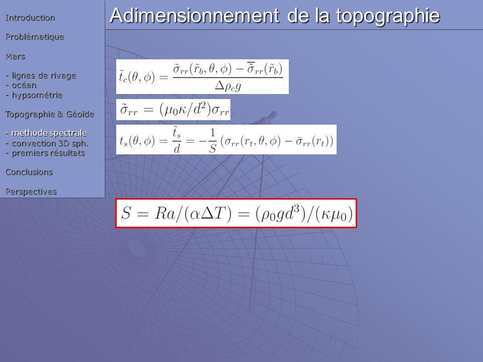 Adimensionnement de la topographie