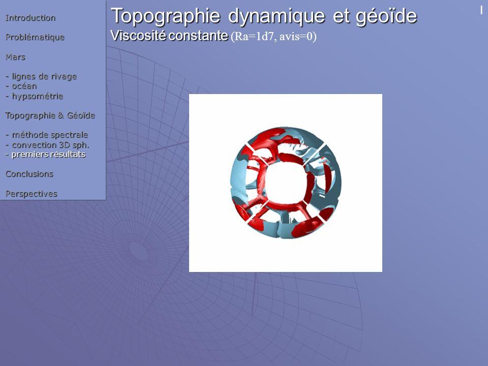 Topographie dynamique et géoïde