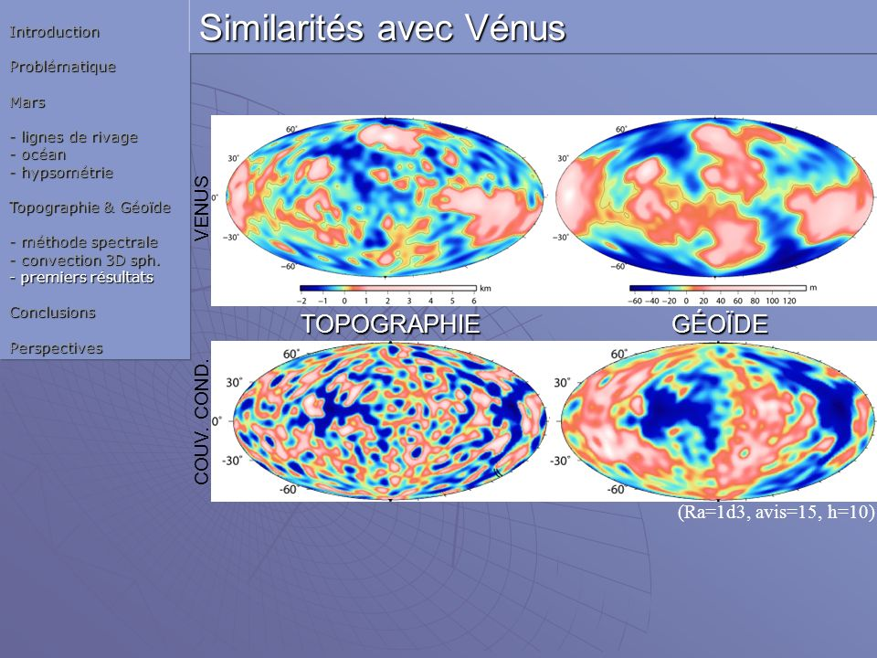 Similarités avec Vénus