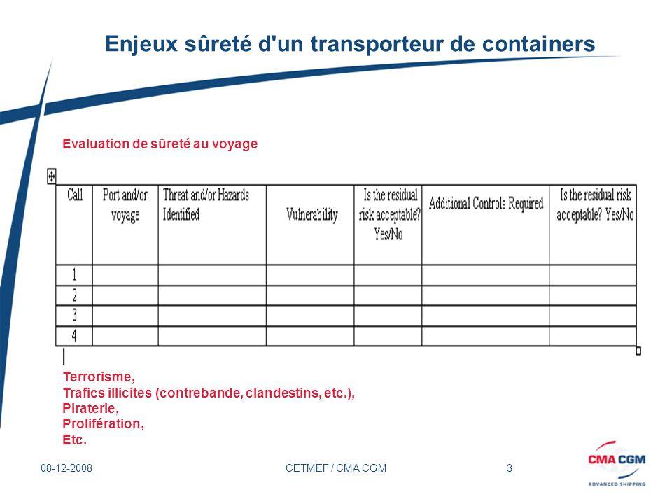 Enjeux sûreté d un transporteur de containers