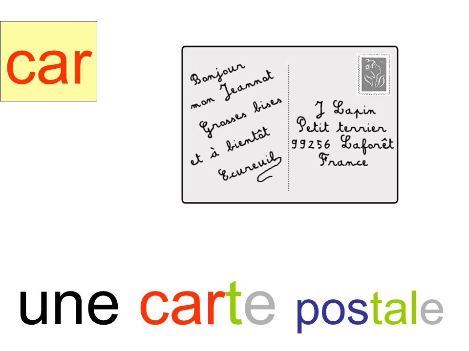 carte car une carte postale instit90