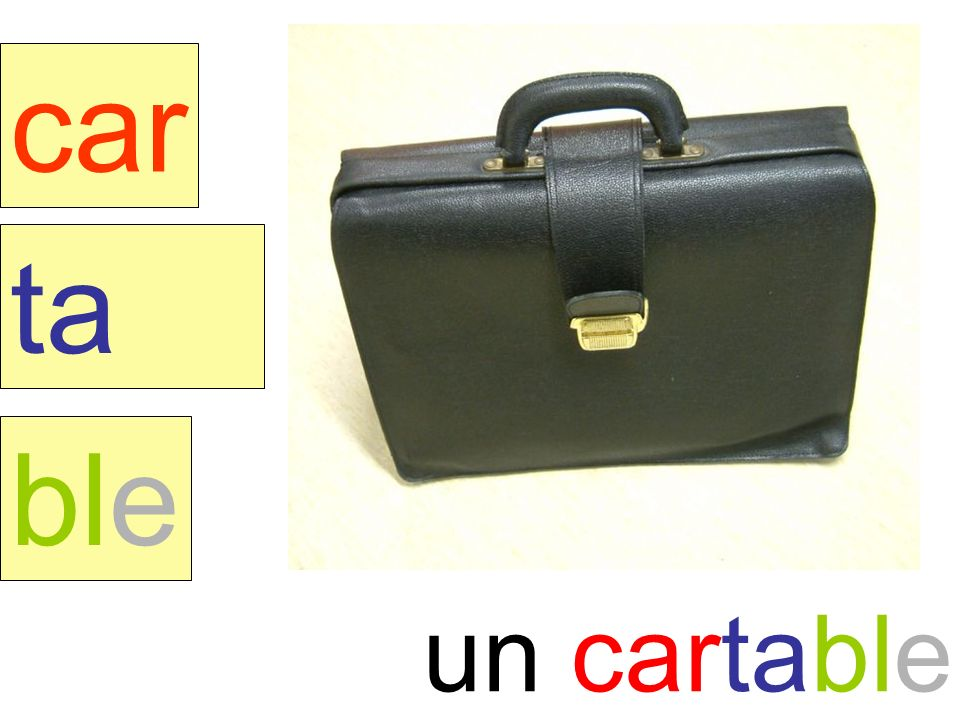 cartable car ta ble un cartable instit90