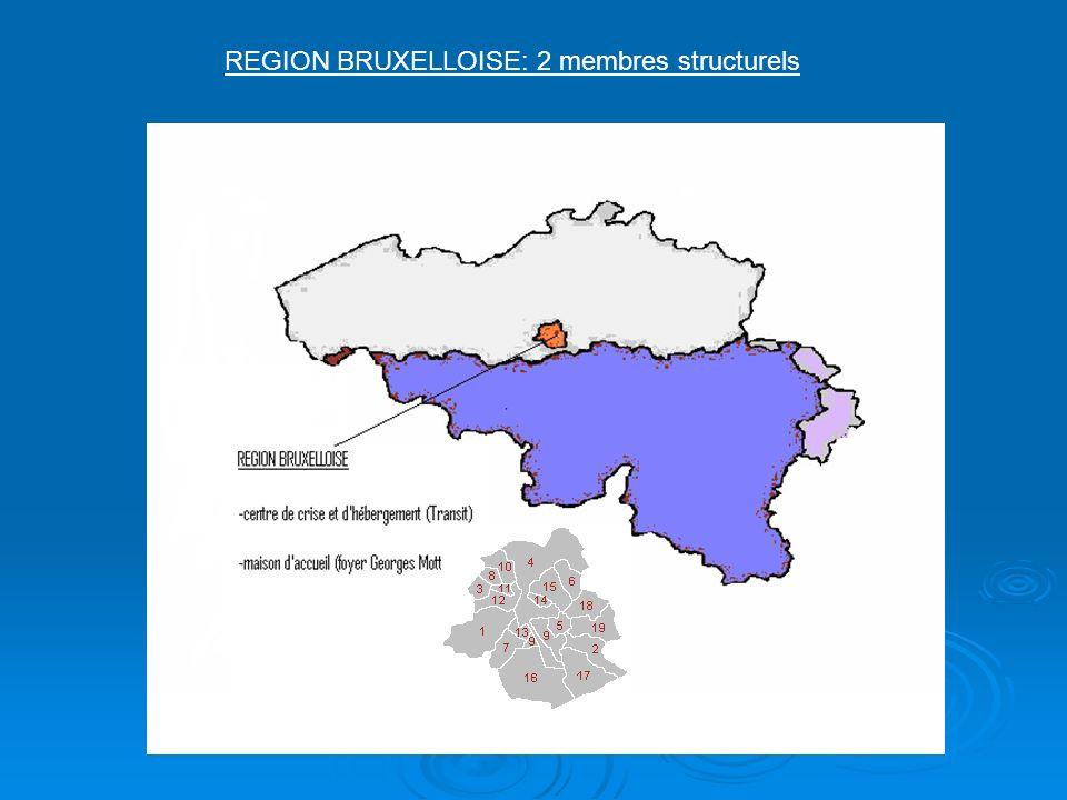 REGION BRUXELLOISE: 2 membres structurels