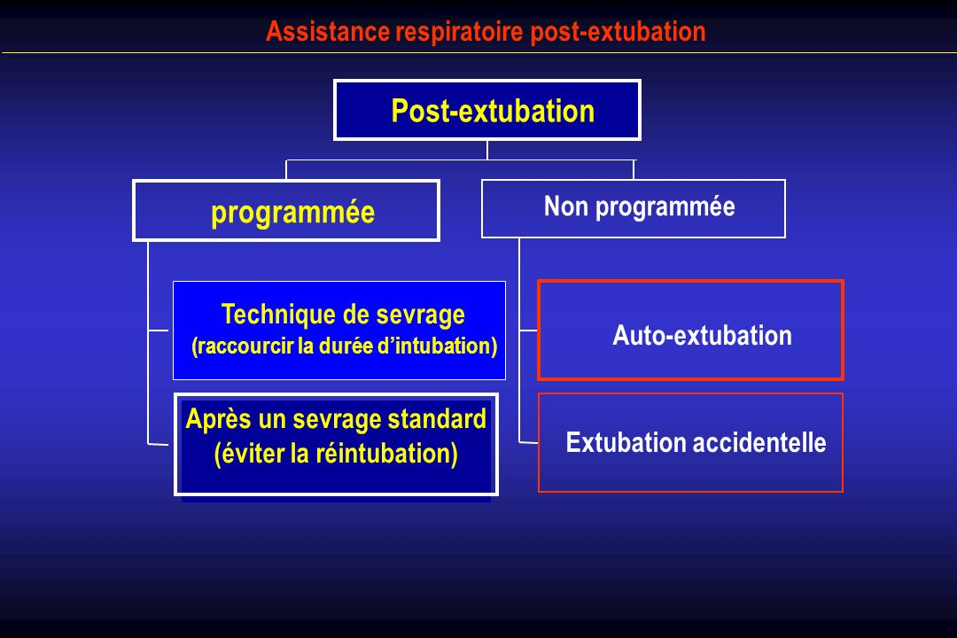 Post-extubation programmée