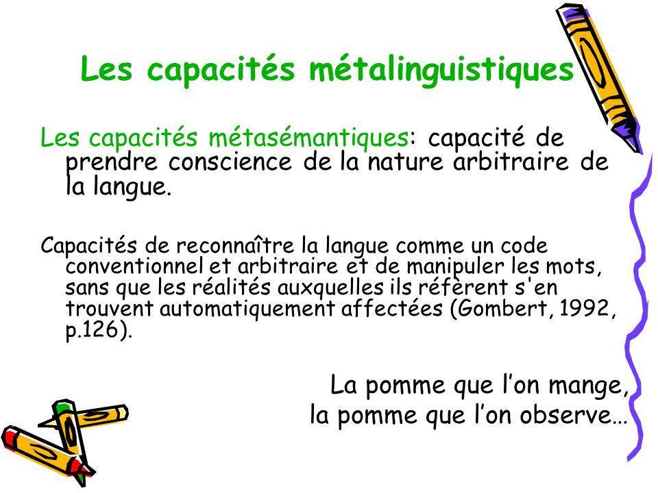 Les capacités métalinguistiques