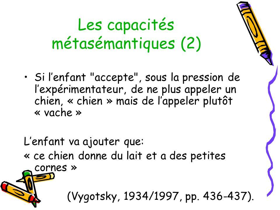 Les capacités métasémantiques (2)