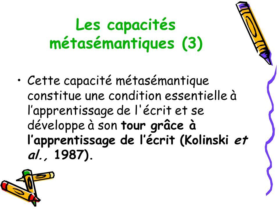 Les capacités métasémantiques (3)