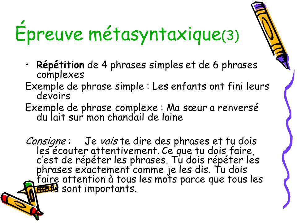 Épreuve métasyntaxique(3)