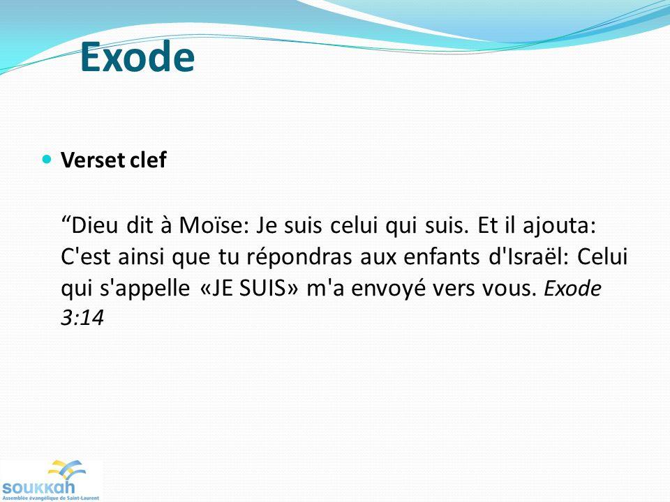 Exode Verset clef.
