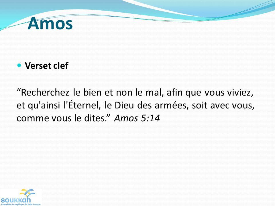 Amos Verset clef.