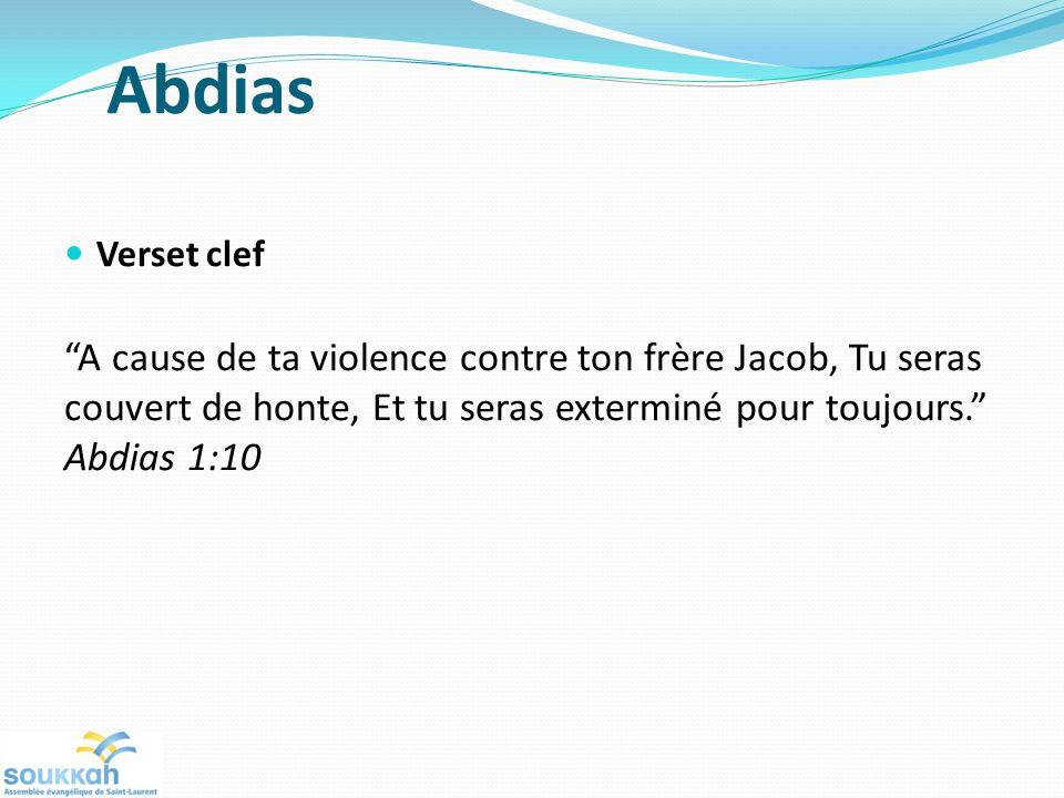 Abdias Verset clef.