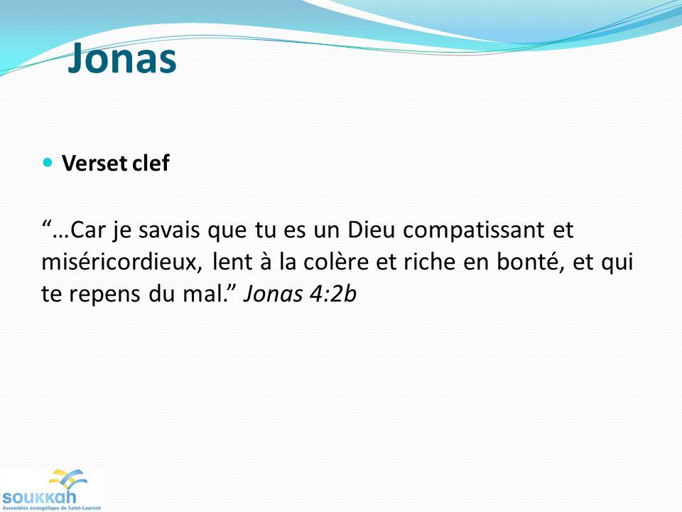 Jonas Verset clef.